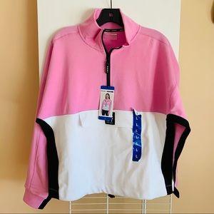 Dkny New York sports NWT quarter zipper sweater lg